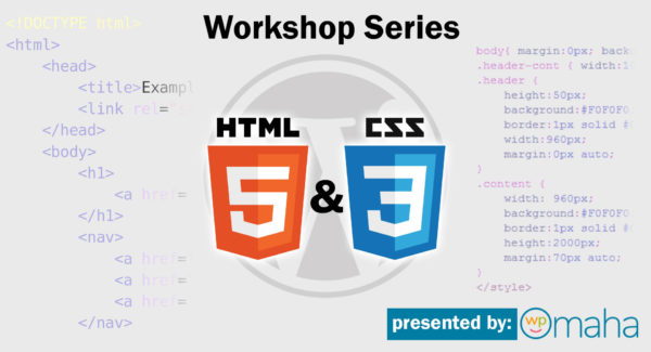 html css workshop series class training
